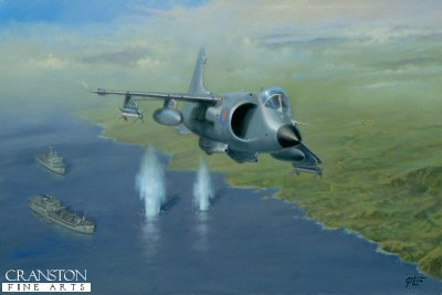 Action Over San Carlos by Geoff Lea. (Y)