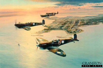 Spitfires Over Darwin by Robert Taylor.