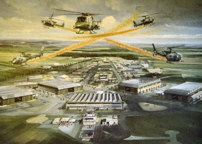 Blue Eagles Over Middle Wallop by Graham Wragg.