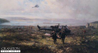 Falklands Casevac, Ajax Bay, 28th May 1982 by David Shepherd.