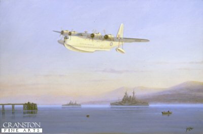 Sunderland Over the Gareloch by Geoff Lea.