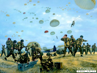 Arnhem Drop 17th September 1944 by Simon Smith. (Y)