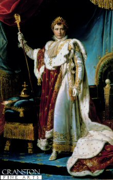 Napoleon in his Coronation Robes by Francois Gerard. (Y)