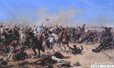Charge of the 3rd Light Dragoons at the Battle of Moodkee by Ernest Crofts.