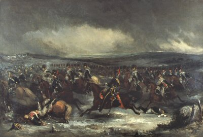 Charge of the 7th Hussars at Waterloo by Henry Martens.