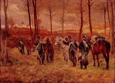 Petit Poste de Grand Garde, Hussars of the 8th Regiment by Jean Louis Ernest Meissonier.