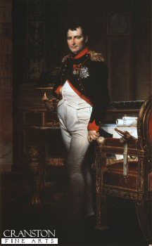 Portrait of Napoleon by Jacques Louis David.