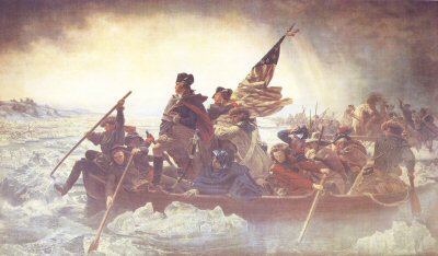 Washington Crossing the Delaware by Emanual Gottlieb Leutze.