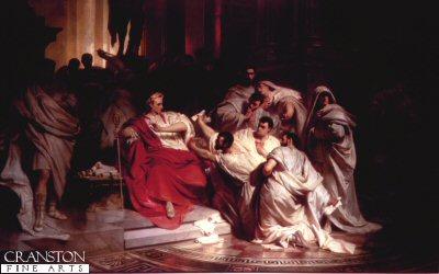 Murder of Caesar by Karl Theodore van Piloty.
