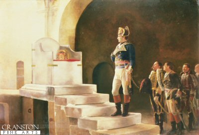 Napoleon at Charlemagnes Throne by Henri-Paul Motte.