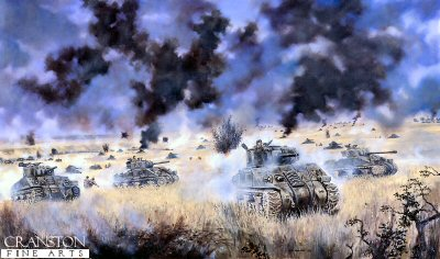 Operation Goodwood, Caen, Normandy, 18th-19th July, 1944 by David Rowlands (C)
