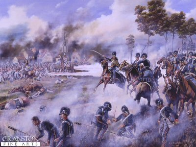 The Rocket Brigade at the Battle of Leipzig, 16th-18th October 1813 by David Rowlands.