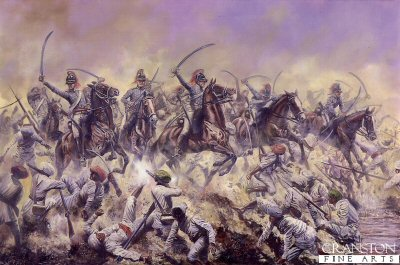 The Charge of the 19th Light Dragoons at Assaye by David Rowlands (GS)