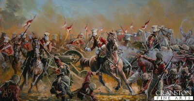 Charge of the 16th Lancers at the Battle of Aliwal by Mark Churms. (P)