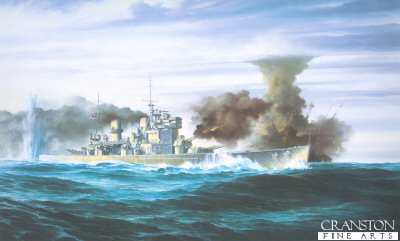 HMS Prince of Wales by Brian Wood. (B)