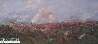 The Attack of the French Cuirassiers on the British Squares by Demoulin.