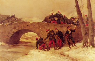 Defence D un Pont by E Berne-Bellecour.