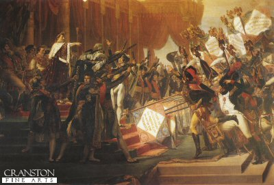 Distribution of the Eagles by Jacques Louis David.
