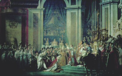 Coronation of Napoleon by Jacques Louis David (GS)