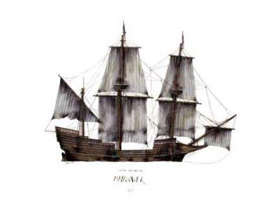 Colonial Merchantman Mayflower 1620 by Tony Fernandes.