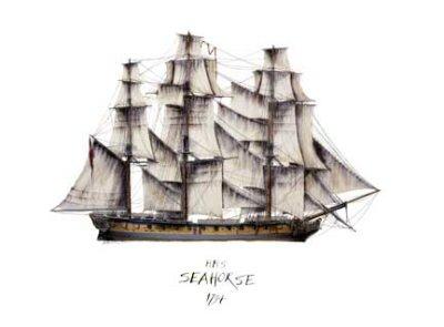 HMS Seahorse 1794 by Tony Fernandes. (C)