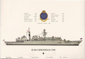 HMS Sheffield 1988 by Tony Fernandes.