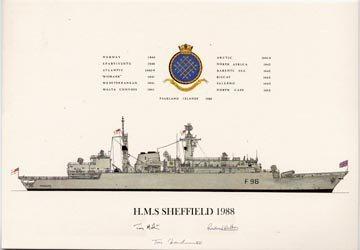 HMS Sheffield 1988 No2 by Tony Fernandes.