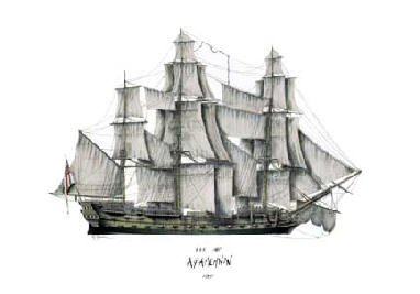 HMS Agamemnon 1805 by Tony Fernandes. (C)