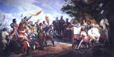The Bataille de Bouvines 27th July 1214 by Horace Vernet.