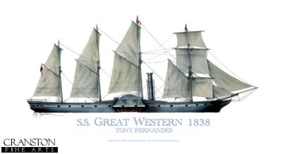 SS Great Western 1838 by Tony Fernandes. (GS)