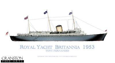 Royal Yacht Britannia 1953 by Tony Fernandes.
