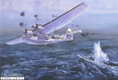 Sinking of U-Boat 347 by Tim Fisher.
