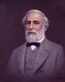 Portrait of General Lee by Geoff Lea.
