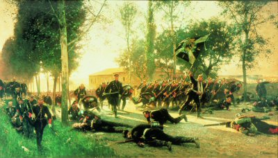 Death of Major Hadelin by Carl Rochling. (Y)