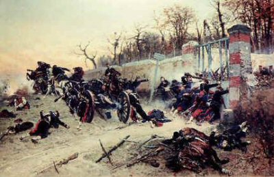 La Defence de la Longbayau by Alphonse De Neuville (B)