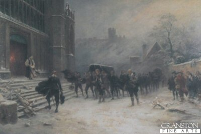 Funeral of Charles I, St Georges Chapel, Windsor by Ernest Crofts. (XX)