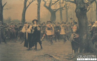 Charles I on His Way to Execution by Ernest Crofts. (Y)
