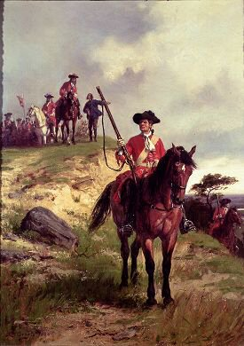 The Outpost (Dragoon c 1700) by Ernest Crofts. (YB)
