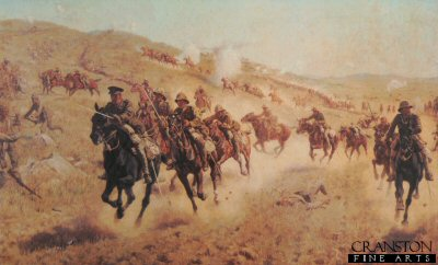 Action of the 6th Mounted Brigade at El Muhgar by J P Beadle. (XX)