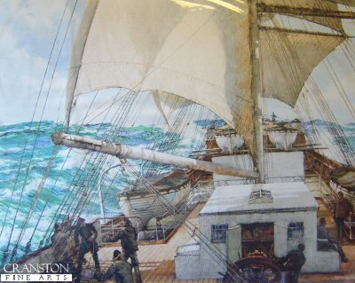 Gale Force Eight by Montague Dawson. (B)