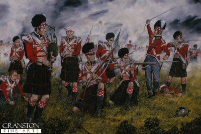 The Cameron Highlanders at Waterloo by Brian Palmer.