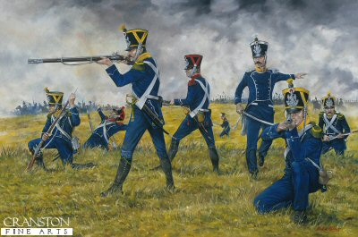 1st Regiment French Light Infantry at Waterloo by Brian Palmer.