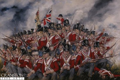 The 27th Foot  (Inniskilling) at Waterloo by Brian Palmer (GS)