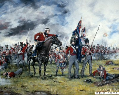 Royal Scots at Waterloo by Brian Palmer.