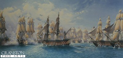 HMS Victory About to Break the Line by Bill Bishop.