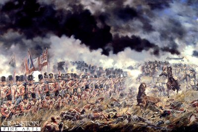 The 33rd (1st Yorkshire, West Riding ) Regiment at the Battle of Waterloo, 18th June 1815 by David Rowlands.