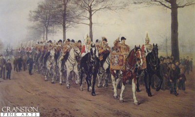 The Band of Her Majestys 1st Life Guards by Orlando Norie.