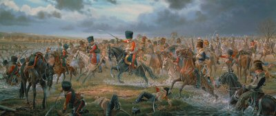 Sabres on the Esla Pursuit of the Imperial Guard at the Battle of Benevente by Mark Churms. (XX)