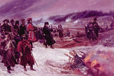Burning the Eagles on the Retreat From Moscow by Richard Caton Woodville.