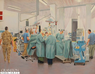 Camp Bastion - Operating Theatre by Graeme Lothian.